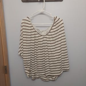 Maurices 3x striped flowy lace back 3